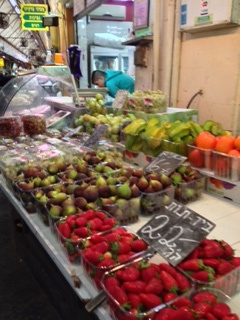 fruit stand in Israel